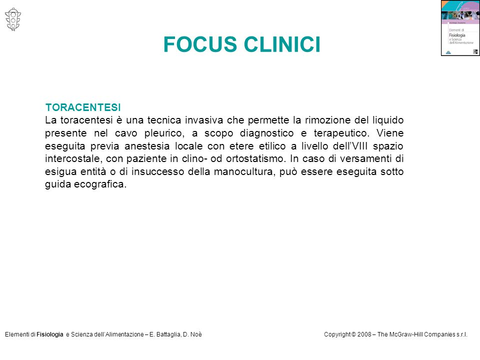 FOCUS CLINICI TORACENTESI