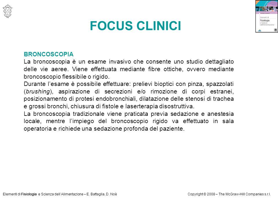 FOCUS CLINICI BRONCOSCOPIA