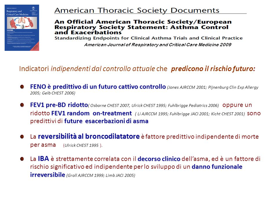 American Journal of Respiratory and Critical Care Medicine 2009
