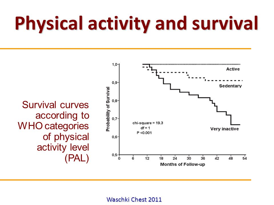 Physical activity and survival