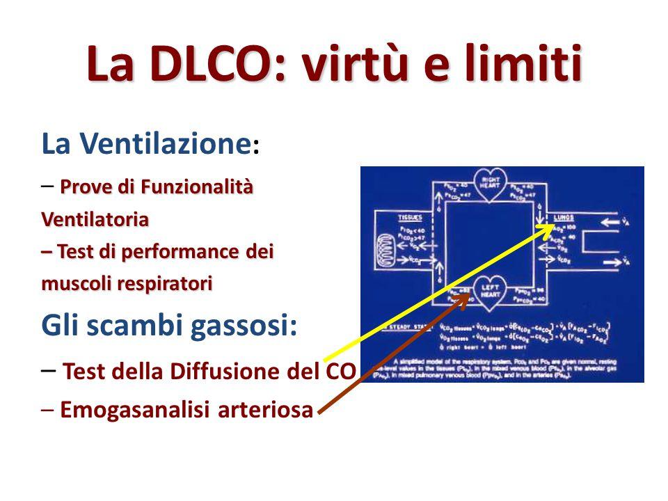 La DLCO: virtù e limiti La Ventilazione: Gli scambi gassosi: