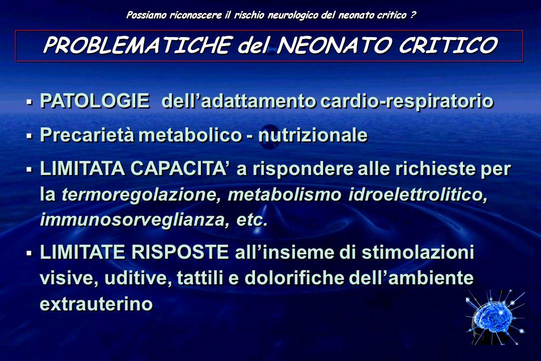 PROBLEMATICHE del NEONATO CRITICO
