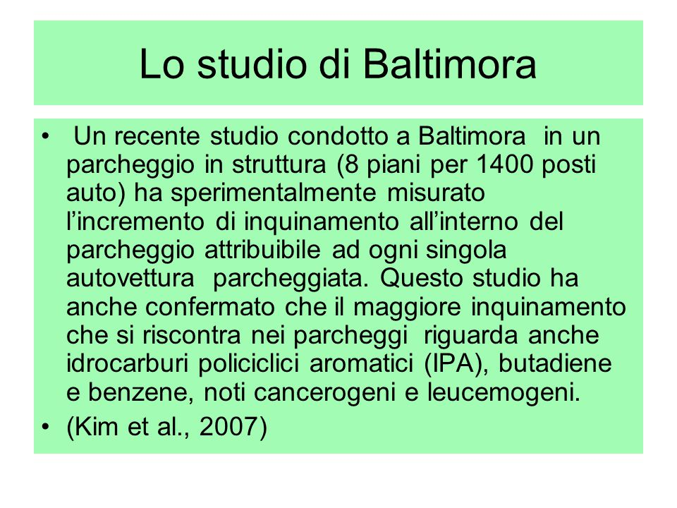 Lo studio di Baltimora