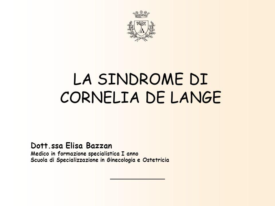 LA SINDROME DI CORNELIA DE LANGE