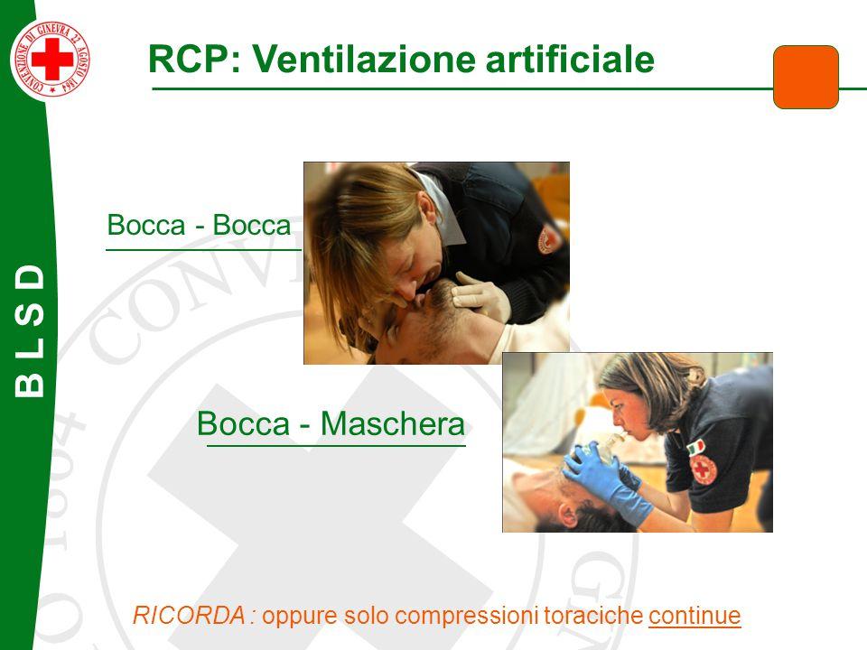 RCP: Ventilazione artificiale