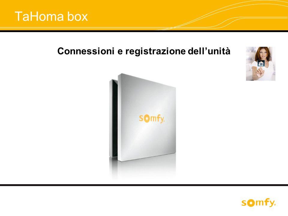 Connessioni e registrazione dell'unità