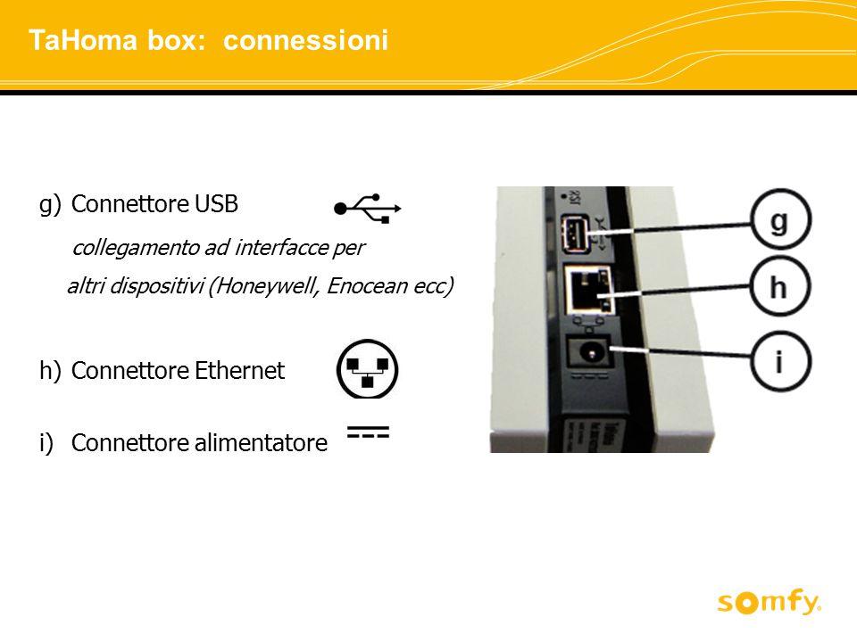 TaHoma box: connessioni