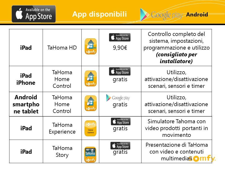 (consigliato per installatore) Android smartphone tablet