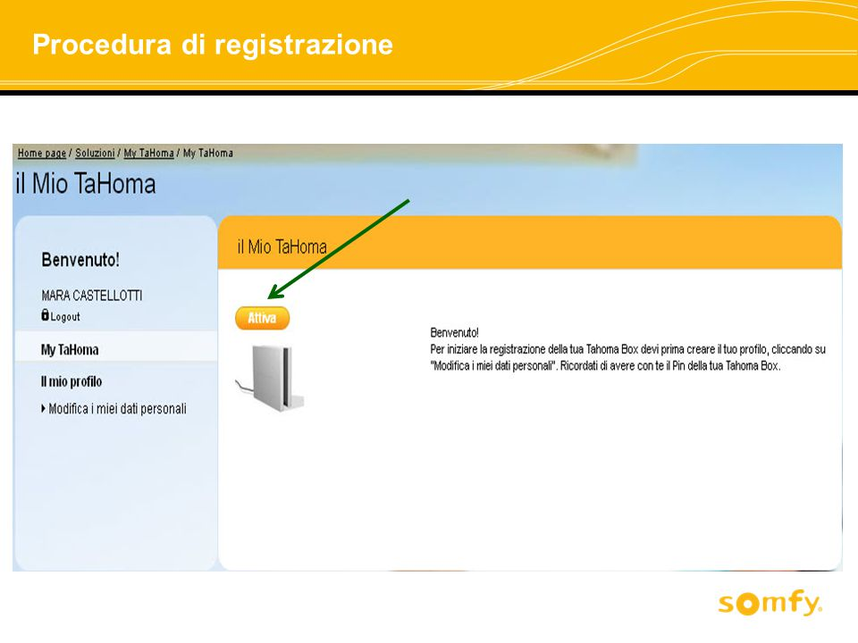 Procedura di registrazione