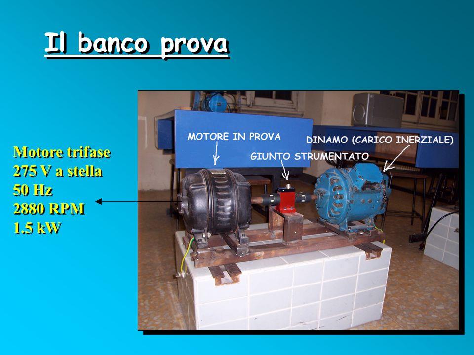 Il banco prova Motore trifase 275 V a stella 50 Hz 2880 RPM 1.5 kW