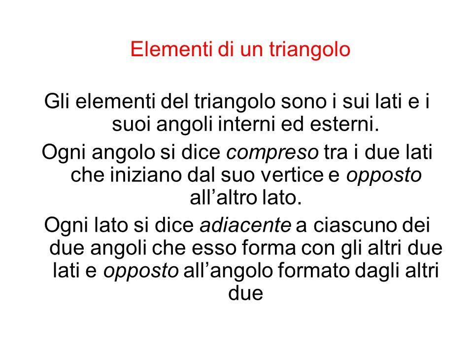 Elementi di un triangolo