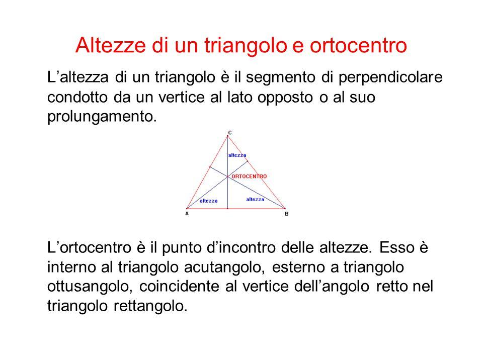 Altezze di un triangolo e ortocentro