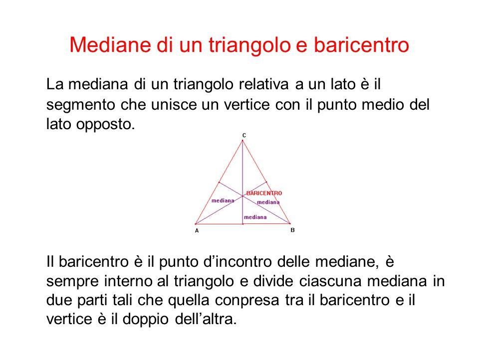 Mediane di un triangolo e baricentro