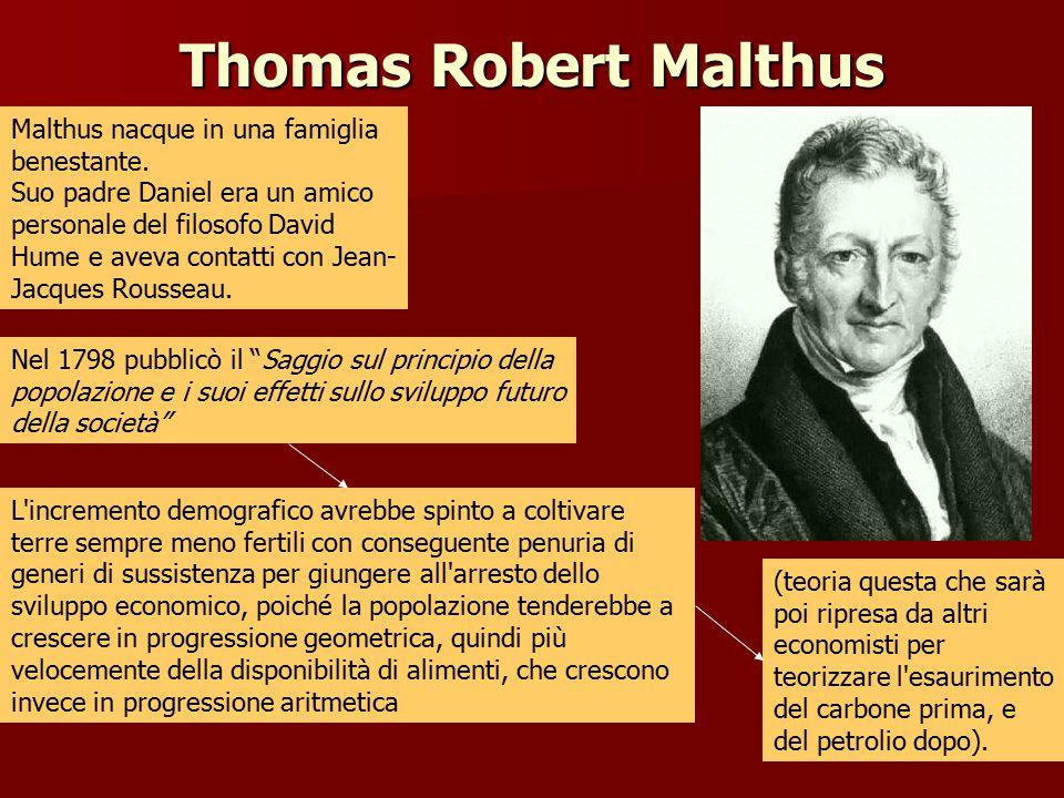 Thomas Robert Malthus Malthus nacque in una famiglia benestante.