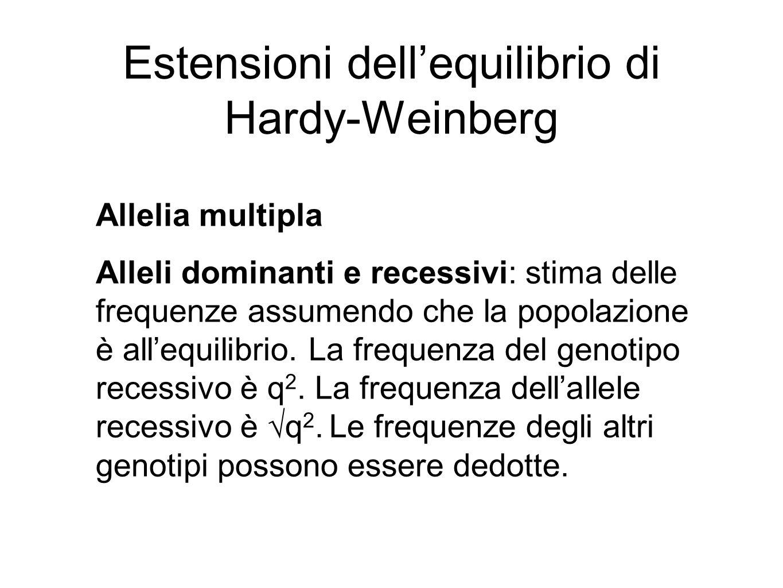 Estensioni dell'equilibrio di Hardy-Weinberg