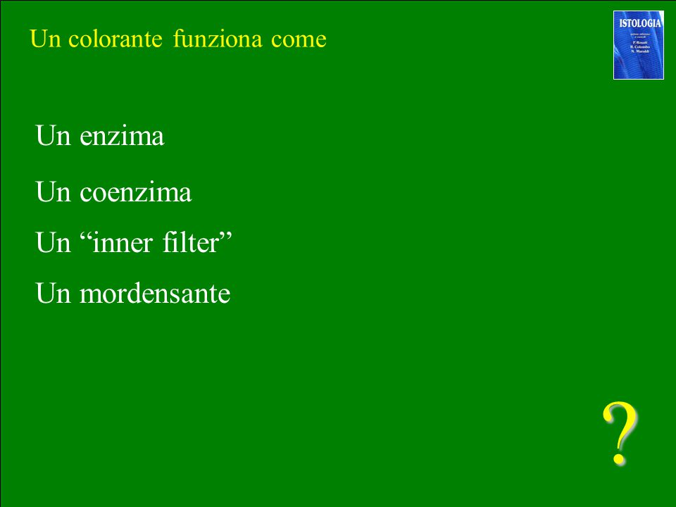 Un enzima Un coenzima Un inner filter Un mordensante