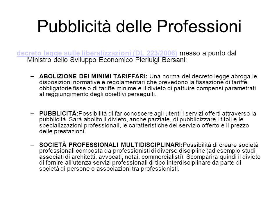 Pubblicità delle Professioni