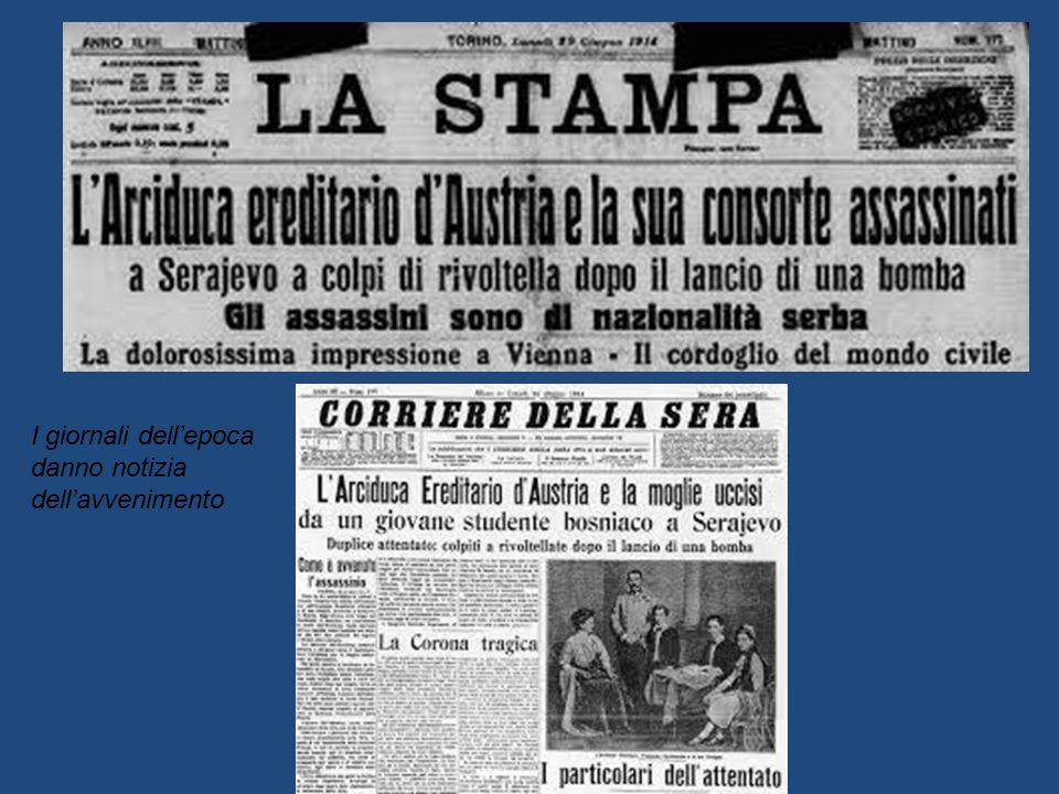 I giornali dell'epoca danno notizia dell'avvenimento