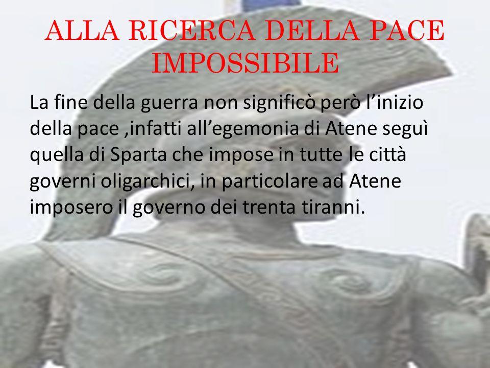 ALLA RICERCA DELLA PACE IMPOSSIBILE