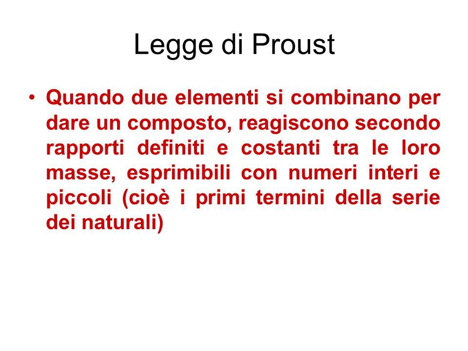 Legge di Proust