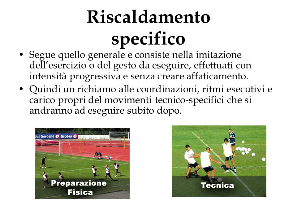 Riscaldamento specifico