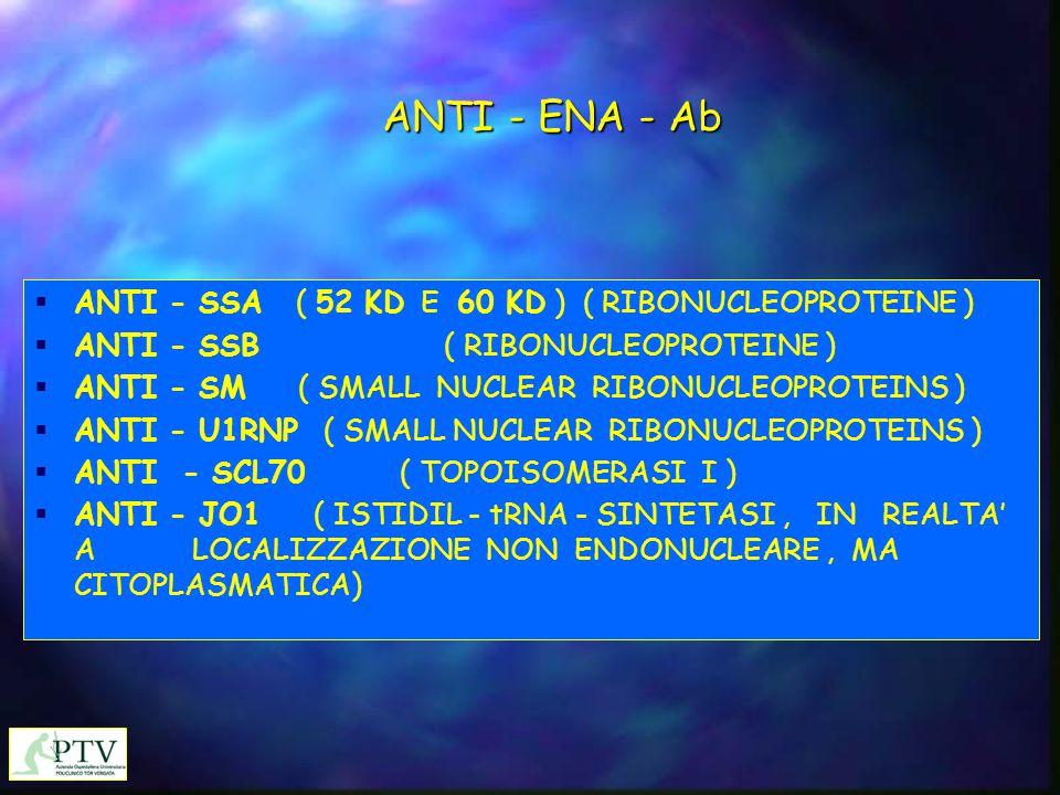 ANTI - ENA - Ab ANTI - SSA ( 52 KD E 60 KD ) ( RIBONUCLEOPROTEINE )