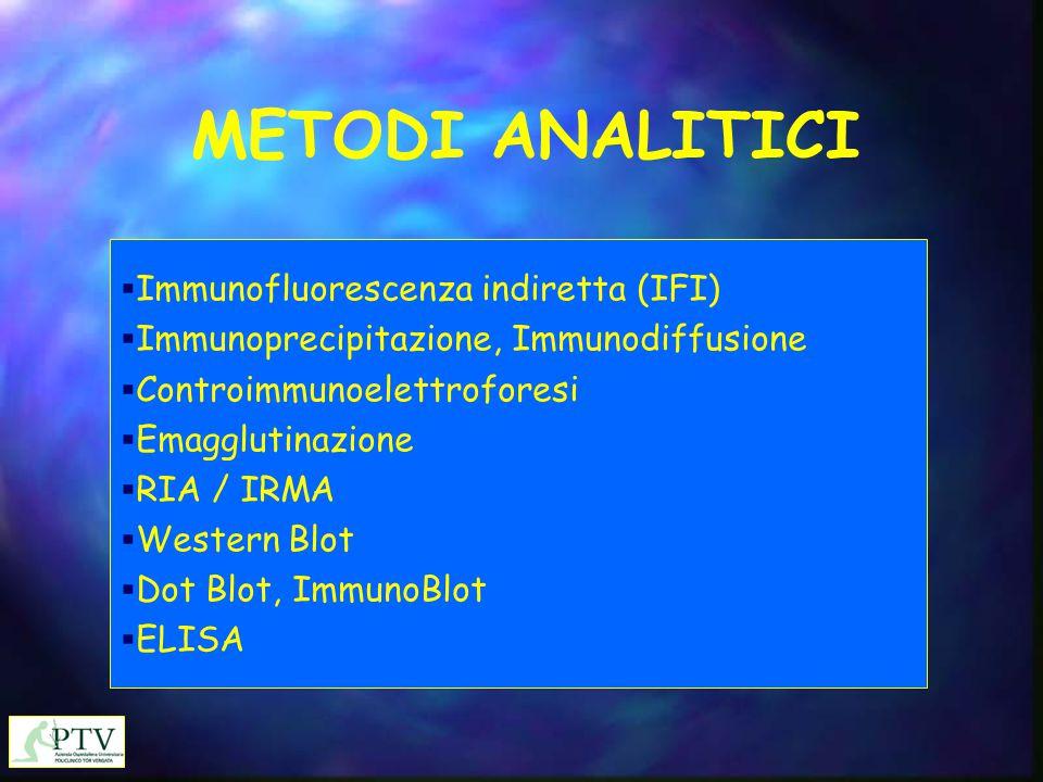 METODI ANALITICI Immunofluorescenza indiretta (IFI)