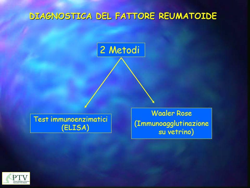 DIAGNOSTICA DEL FATTORE REUMATOIDE