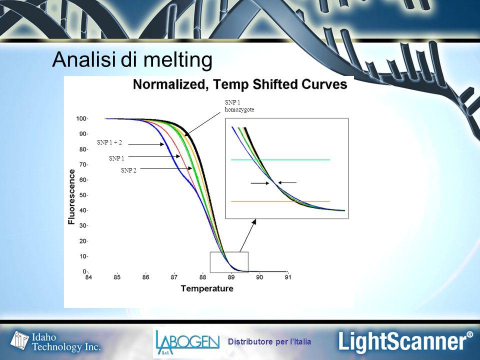 Analisi di melting Distributore per l'Italia SNP 1 homozygote