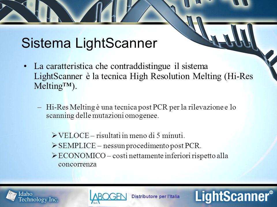 Sistema LightScanner La caratteristica che contraddistingue il sistema LightScanner è la tecnica High Resolution Melting (Hi-Res Melting™).