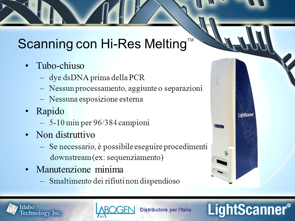 Scanning con Hi-Res Melting