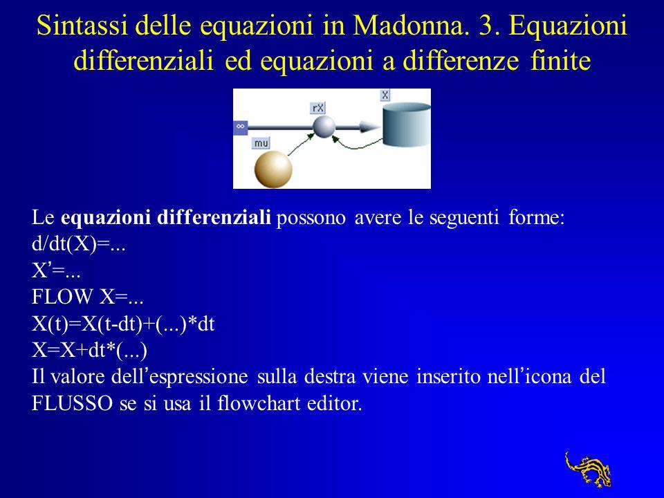 Sintassi delle equazioni in Madonna. 3