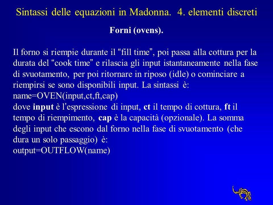 Sintassi delle equazioni in Madonna. 4. elementi discreti