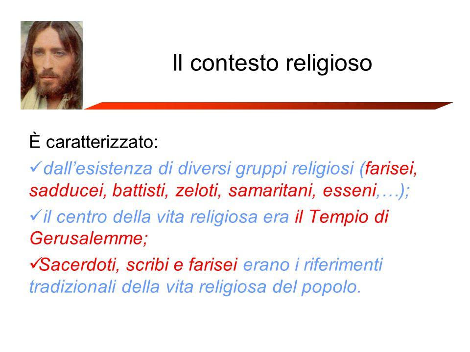 Il contesto religioso È caratterizzato: