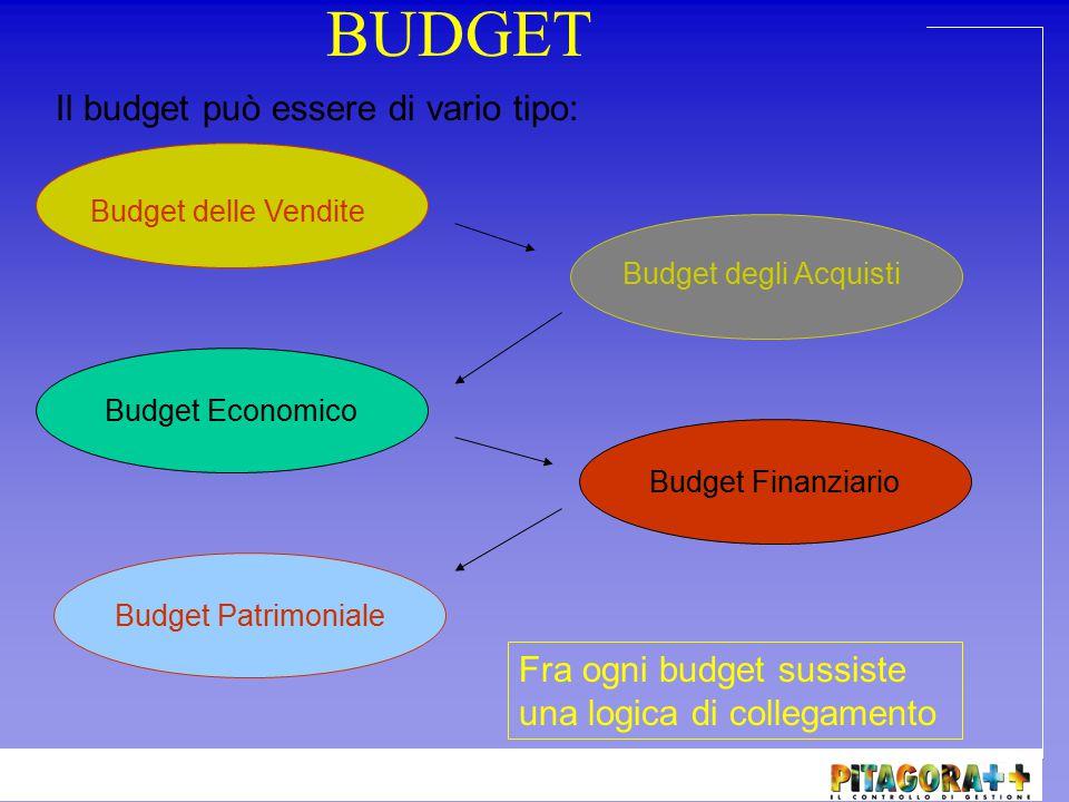 BUDGET Il budget può essere di vario tipo: