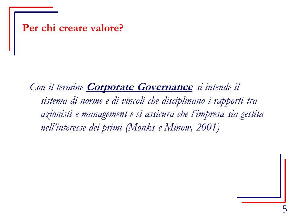 Per chi creare valore