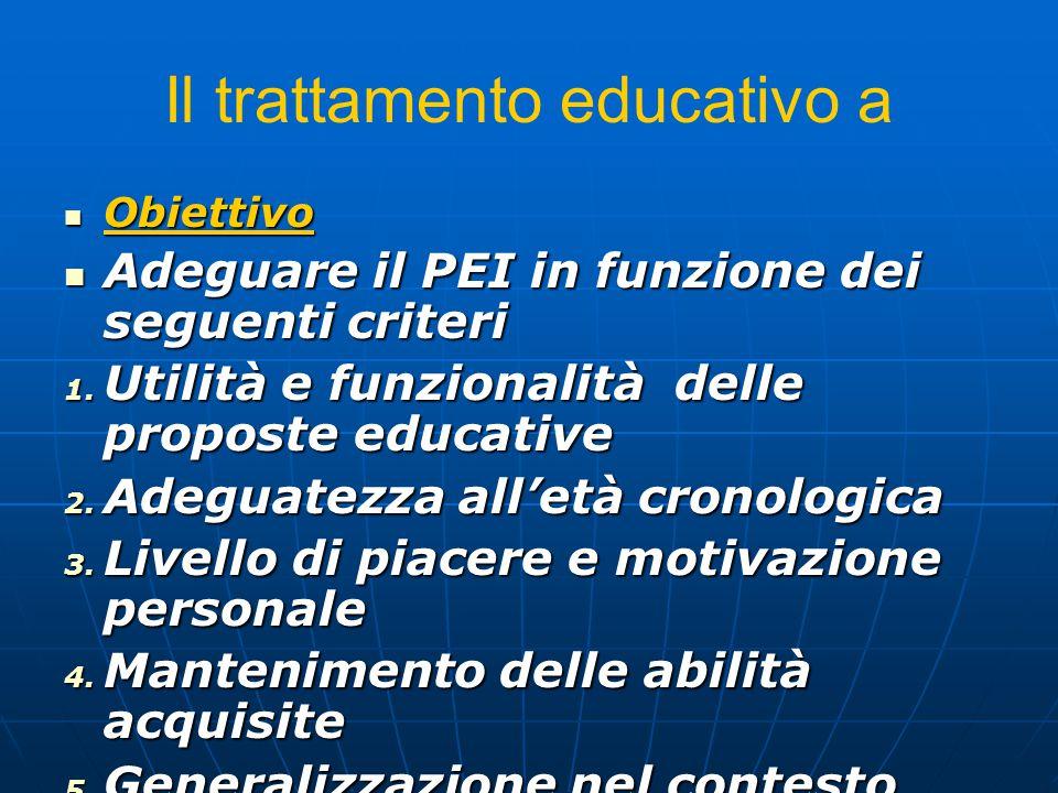 Il trattamento educativo a
