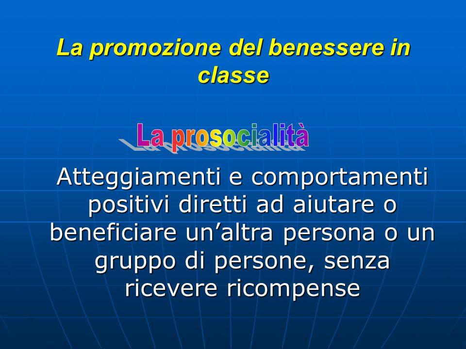 La promozione del benessere in classe