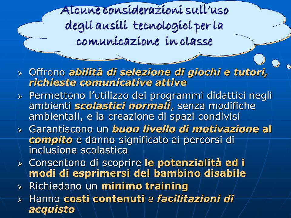 Alcune considerazioni sull'uso degli ausili tecnologici per la comunicazione in classe