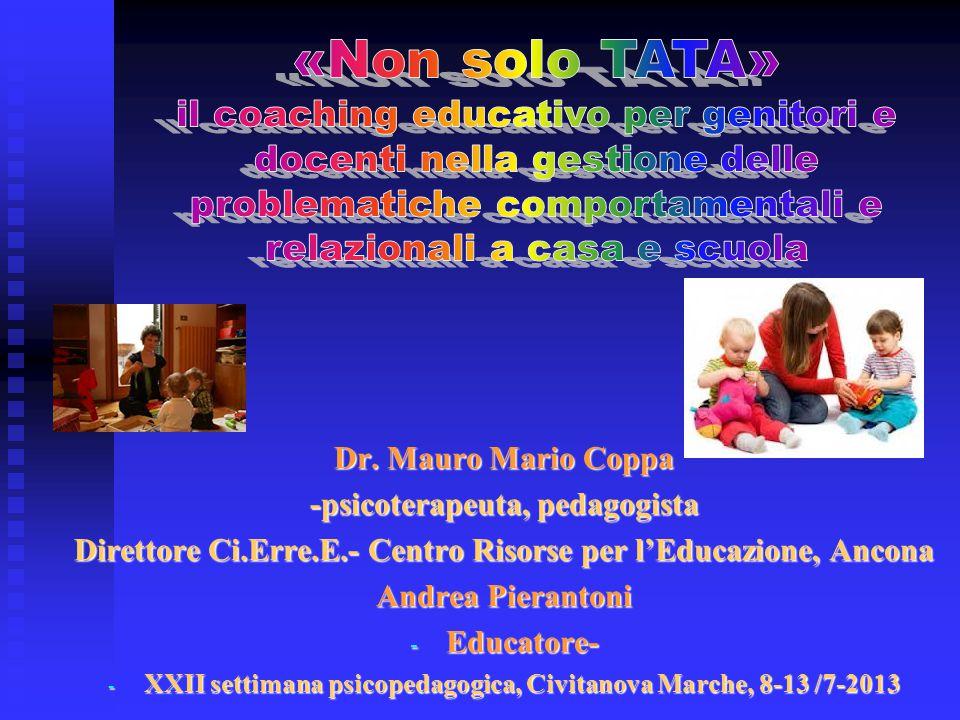 «Non solo TATA» il coaching educativo per genitori e docenti nella gestione delle problematiche comportamentali e relazionali a casa e scuola