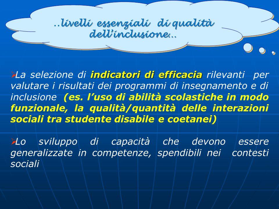 ..livelli essenziali di qualità dell'inclusione…