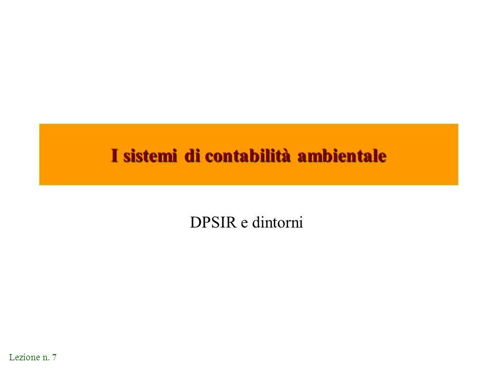 I sistemi di contabilità ambientale