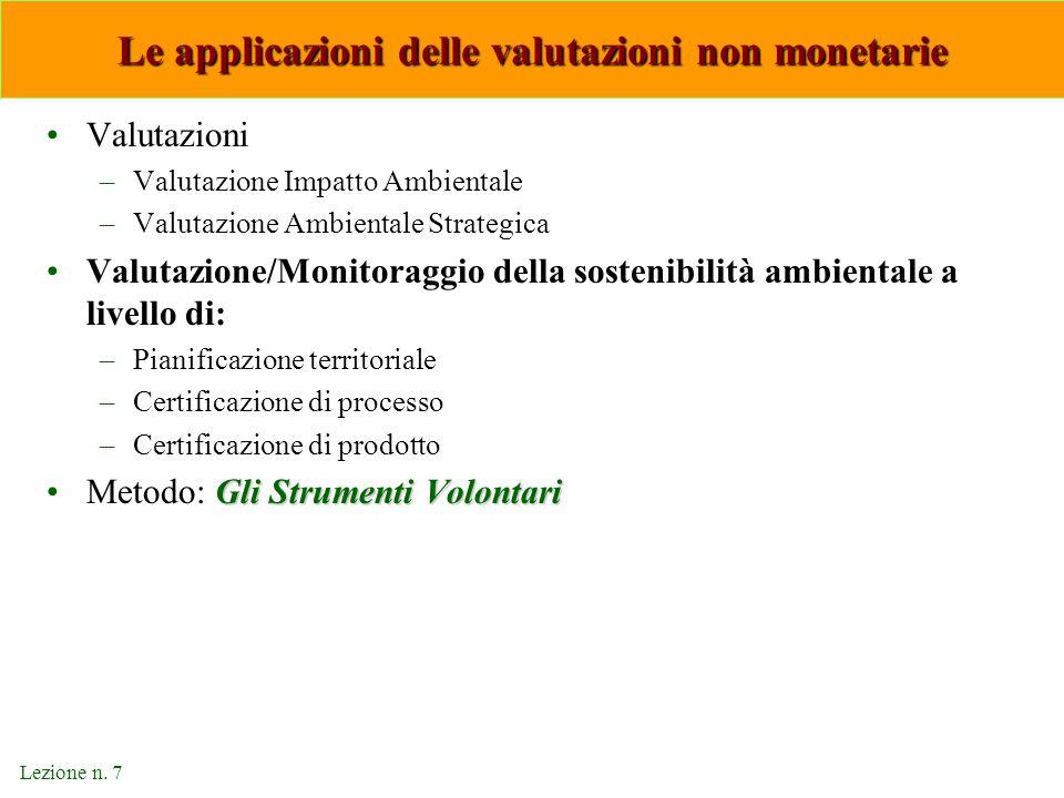 Le applicazioni delle valutazioni non monetarie