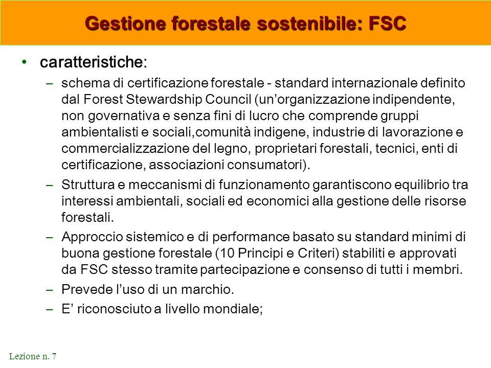 Gestione forestale sostenibile: FSC