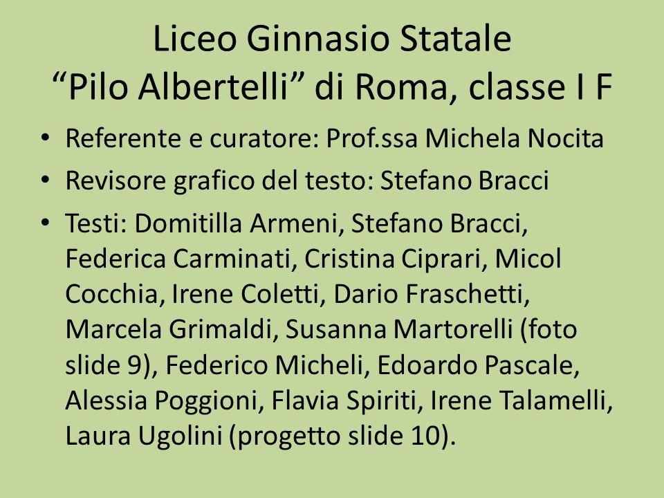 Liceo Ginnasio Statale Pilo Albertelli di Roma, classe I F