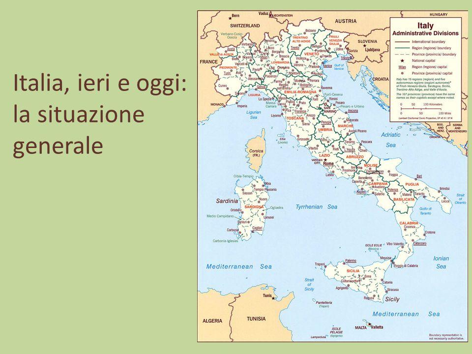 Italia, ieri e oggi: la situazione generale