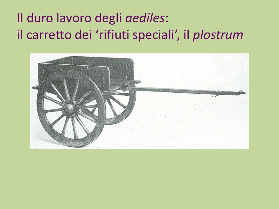 Il duro lavoro degli aediles: il carretto dei 'rifiuti speciali', il plostrum