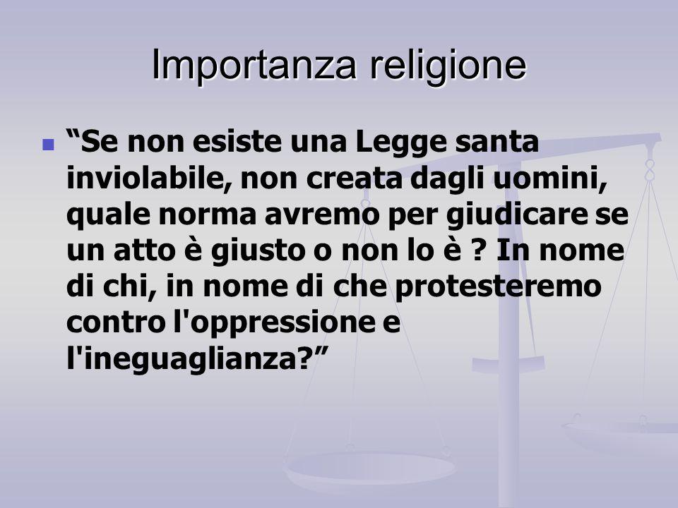 Importanza religione