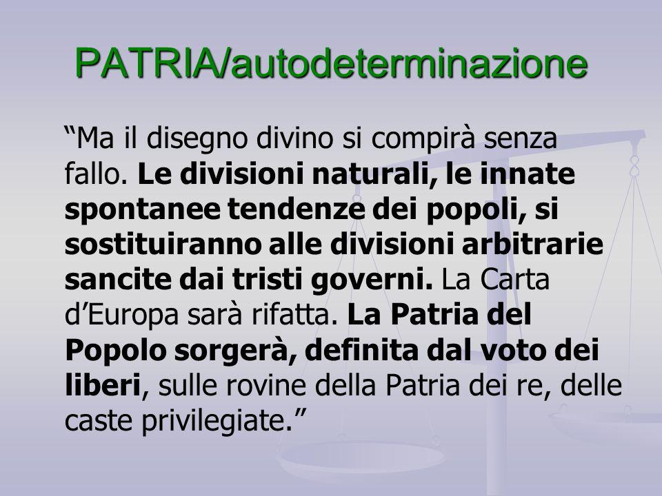 PATRIA/autodeterminazione
