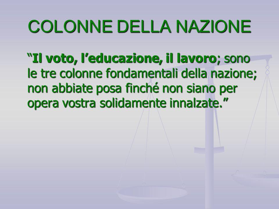 COLONNE DELLA NAZIONE